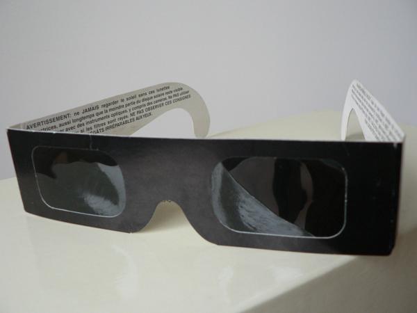 Sun eclipse glasses
