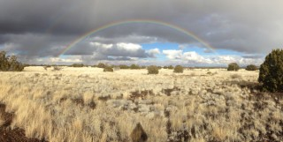 High desert double rainbow