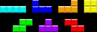 I pezzi di Tetris: I, J, L, O, S, T, Z.