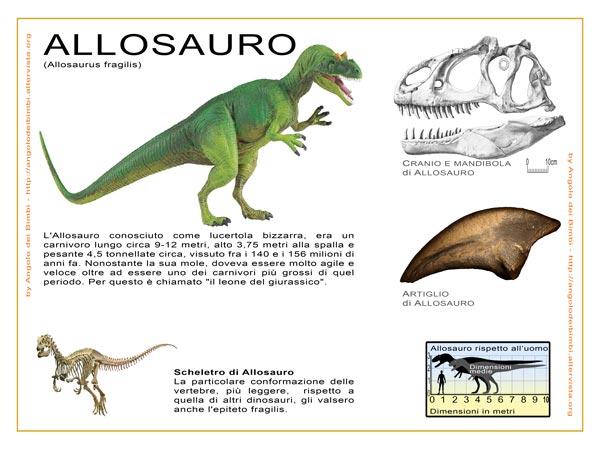 Scheda animali Allosaurus fragilis